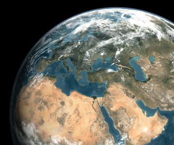 View of Middle East from space