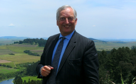 Lord Monckton in the countryside just outside Durban, South Africa.